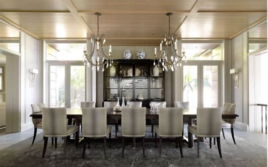 Large dining room with