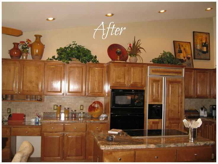 Decor Above Kitchen Cabinets Design By Betsy Burgan