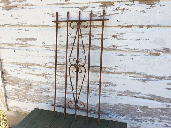 Salvaged Antique Wrought Iron Fence Piece Wrought Iron Window