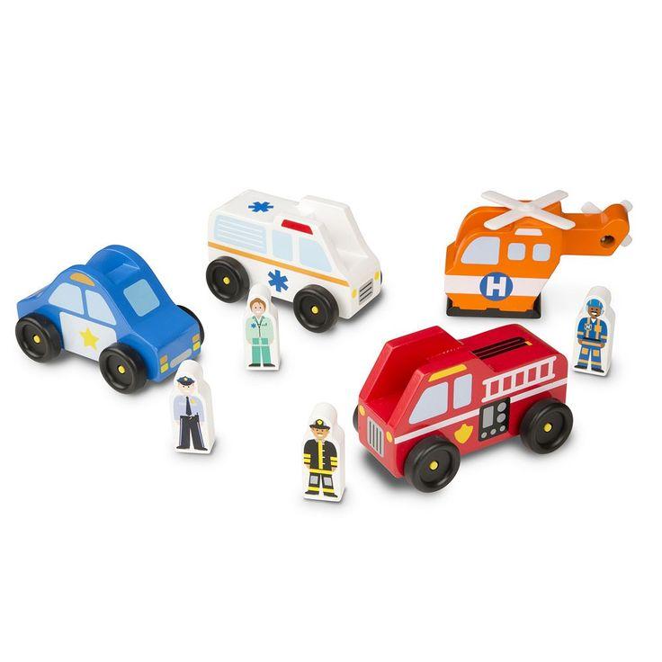 Melissa & Doug Emergency Vehicle Set, Multicolor