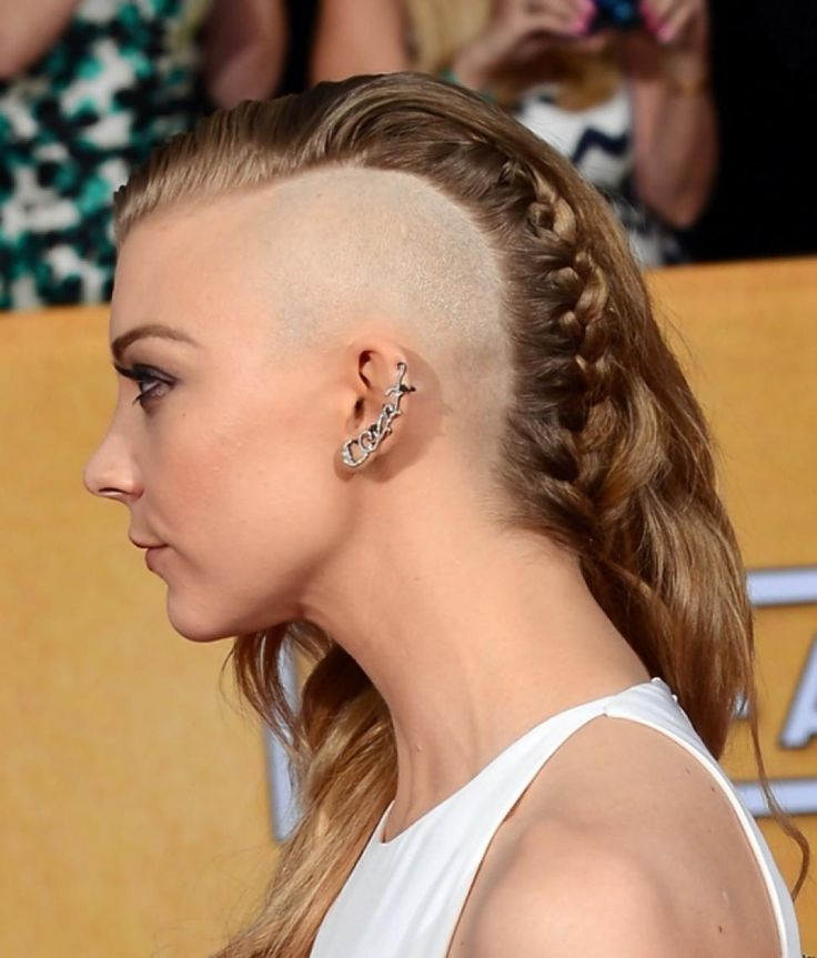 Actress Natalie Dormer shaved half her head for her upcoming role of Cressida in 'The Hunger Games: Mockingjay.'