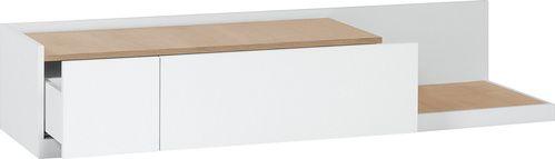 Szafka RTV (Biały/dąb) - Stoliki i szafki - Typy mebli - Meble VOX