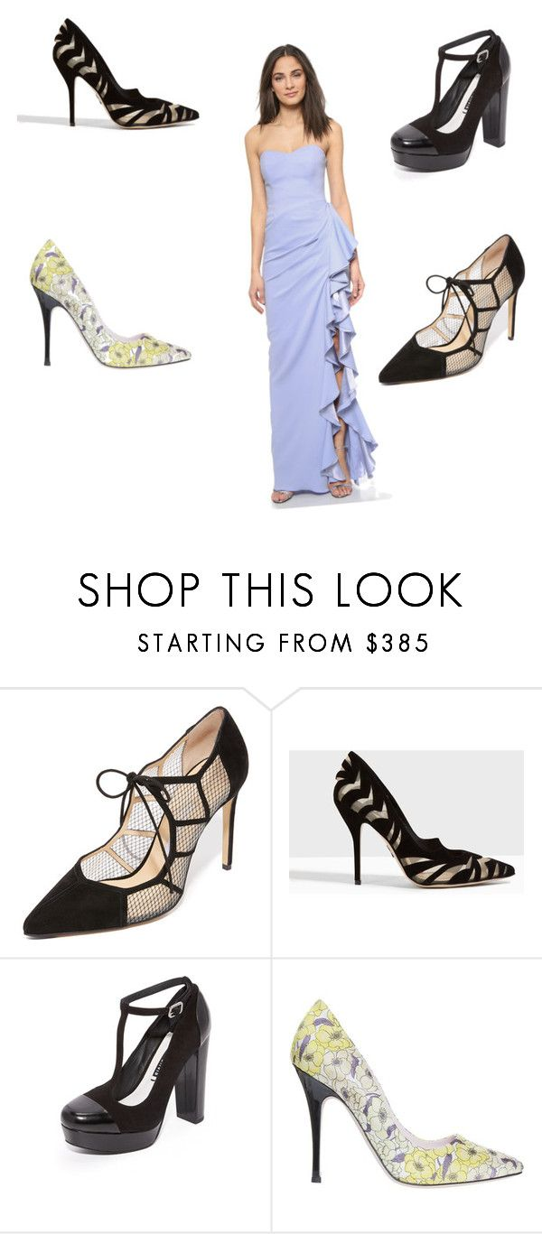 """Ladies Pumps"" by ramakumari ❤ liked on Polyvore featuring Bionda Castana, Paul Andrew, Alice + Olivia, Giamba and Badgley Mischka"