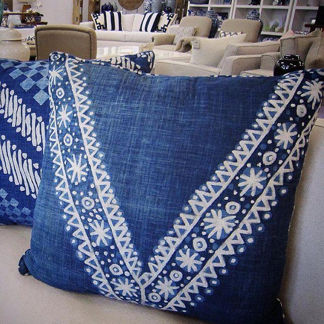 The INDIGO SEAS COLLECTION  Mix & Match hand blocked batik pillows for a personal range of expression #tonga #indigo  #shoponline #shipworldwide  #stuartmemberyhome