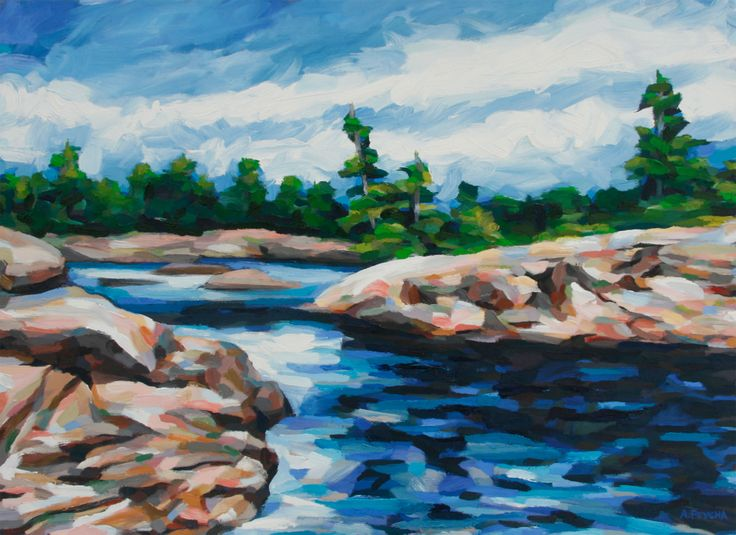 Bying Inlet Oil on Board 36 X 48
