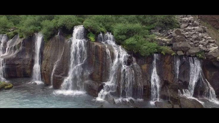 World & Drons EU Iceland : Barnafoss and Hraunfossar waterfalls