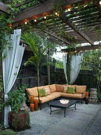Deck Decorating Ideas- Pergola, Lights And Cement Planters12 | porch on backyard water ideas, backyard building ideas, backyard wood ideas, backyard slate ideas, backyard gravel ideas, sloped backyard ideas, backyard landscaping ideas, backyard floor ideas, backyard pavers ideas, backyard rock ideas, backyard stone ideas, backyard construction ideas, backyard tile ideas, backyard sand ideas, backyard grass ideas, small backyard ideas, backyard furniture ideas, backyard food ideas, backyard paint ideas, backyard brick ideas,