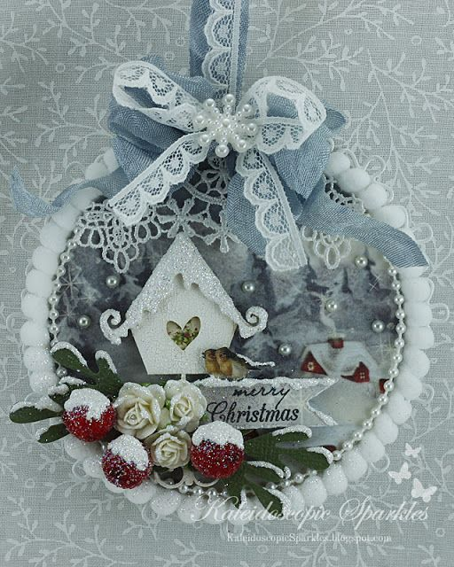 Live & Love Crafts' Inspiration and Challenge Blog: Let it Snow Christmas tag