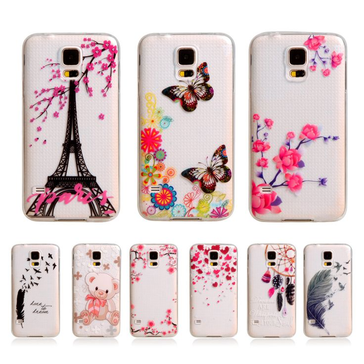 "For Galaxy S5 Case New Silicone Soft TPU Cover For Samsung Galaxy S5 S 5 SV I9600 5.1"" Cartoon Plastic Gel Phone Protective Case"