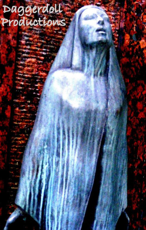 Graveyard Photography  Dark Art  Cemetery Statue  by Daggerdollco, $30.00