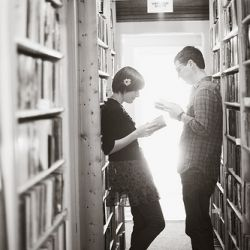 I know two people perfect for this photo shoot - a library photo shoot...for the nerds in us