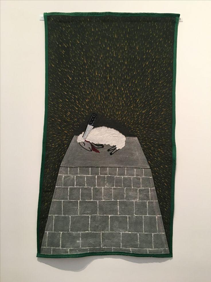 Cordero sacrificado - Feliciano Centurion, 1996. Blanton Museum