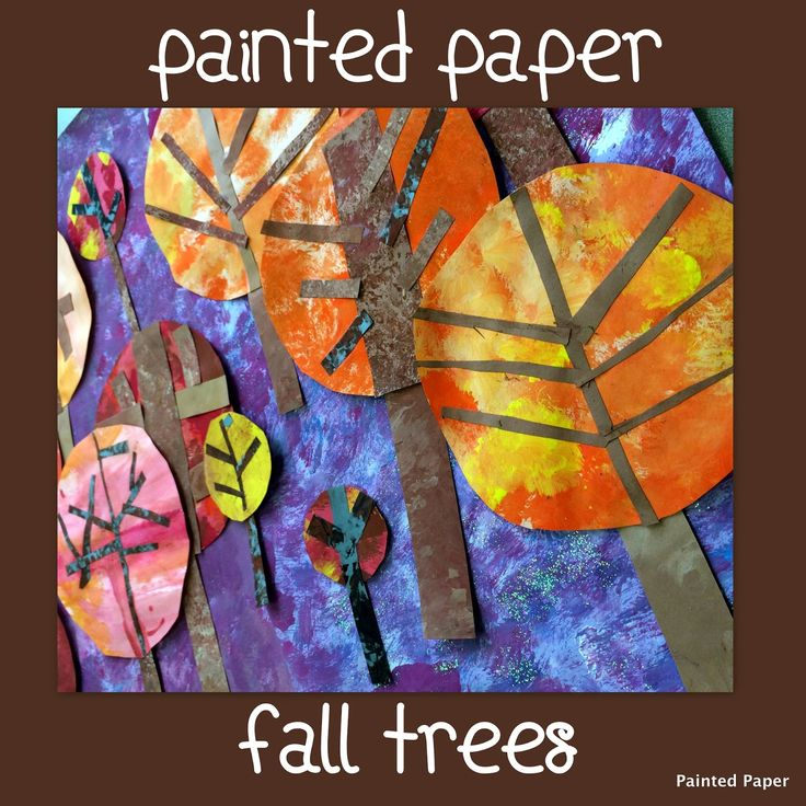 PAINTED PAPER: Stylized Circle Trees.