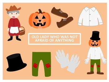 """Clip Art to go along with the book """"The Little Old Lady Who Was Not Afraid of Anything"""" by Linda Williams16 PNG images (300 dpi)8 color and 8 black lineImages included: Little Old Lady, shoes, pants, shirt, gloves, hat, pumpkin and scarecrowThese images are for personal, educational and commercial use."""