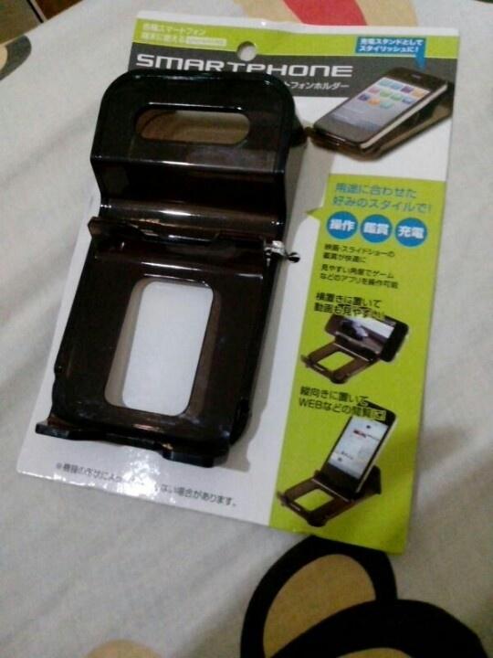 Smartphone desk holder
