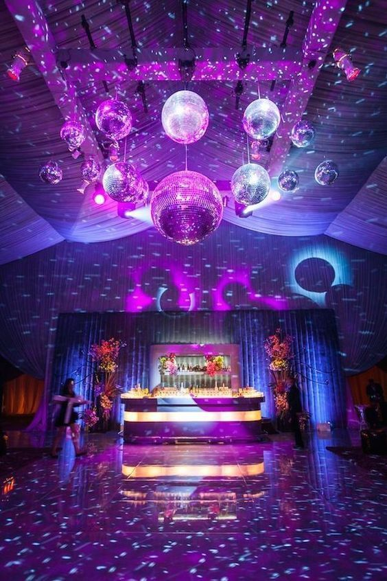 Disco wedding after-party a classic by Revelry Event Design. #wedding #afterparty