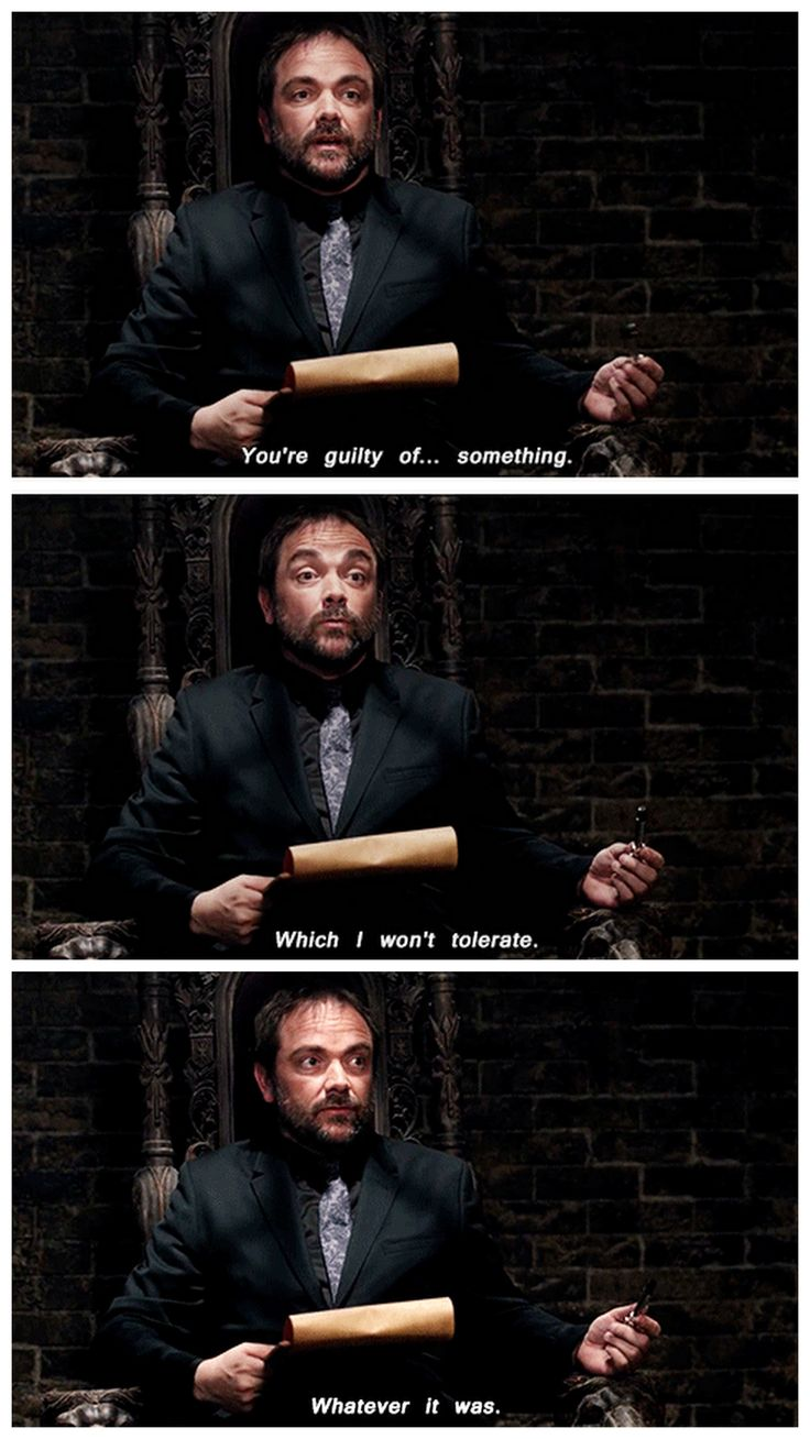 Crowley, the monotony is getting to him. Don't worry, buddy, I feel that was too sometimes.