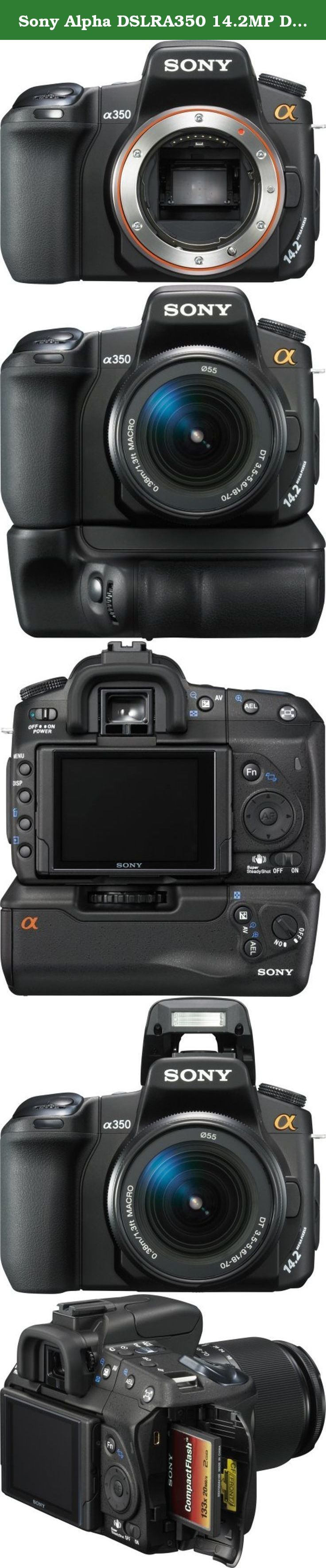 Sony Alpha DSLRA350 14.2MP Digital SLR Camera with Super SteadyShot Image Stabilization (Body Only). With incredible 14.2 MP detail, Sony¿s ¿ (alpha) DSLR-A350 raises the standard of excellence for step-up digital photographers shooting both family memories and fine-art photos. Live Preview in a large 2.7¿ LCD screen links you and your subject -- and you¿ll have special features like super-quick AF response, continuous shooting at 2 fps while you see your subject in the viewfinder…
