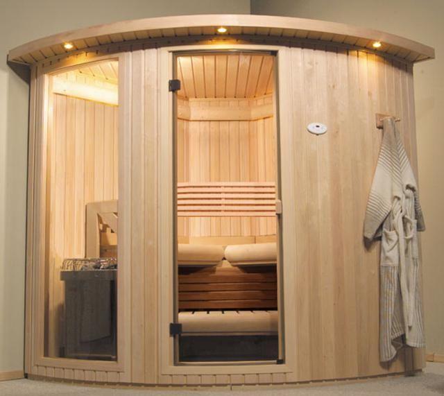 Home sauna steam room.