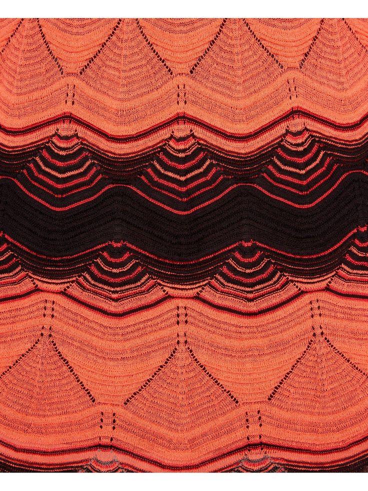 M MISSONI Crochet Knit Zig Zag Dress - Peach | veryexclusive.co.uk