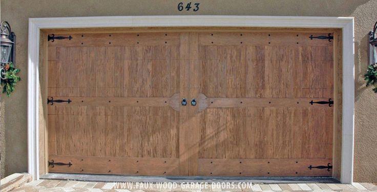 86 best images about faux wood garage doors on pinterest for Garage door wood overlay