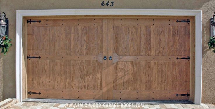 17 best images about faux wood garage doors on pinterest for Fake wood garage doors