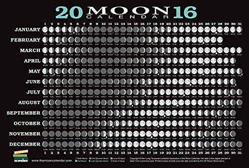 2016 Moon Calendar Card (5-pack)