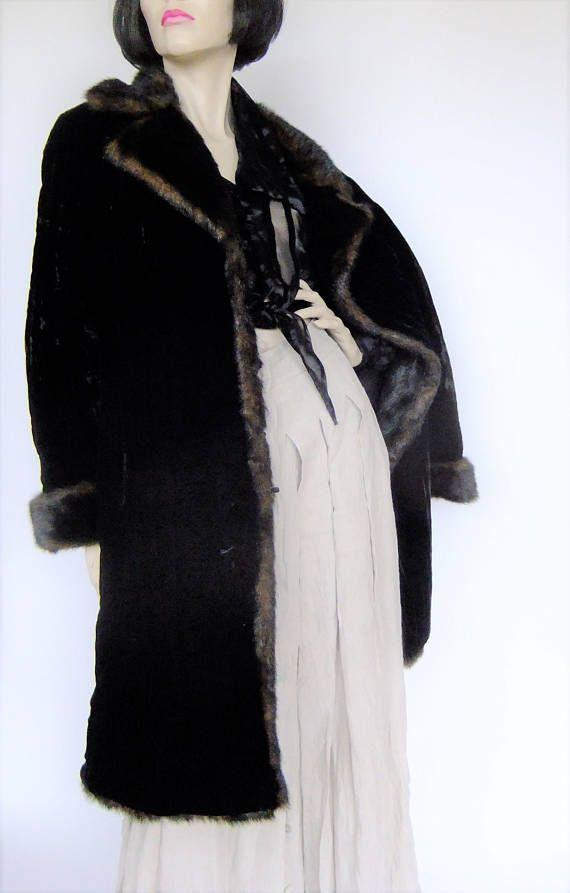 faux fur and velvet coat black velvet coat boho coat duster