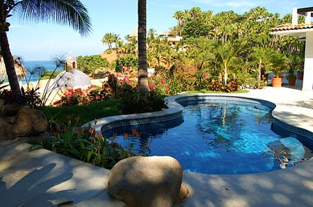 Casa Las Palmas - San Pancho, Mexico - 2 bedrooms - Beautiful Ocean Views  - For information and reservations click here: http://www.sanpanchorentals.com/2bedroom/casa_las_palmas.html $250 per night!