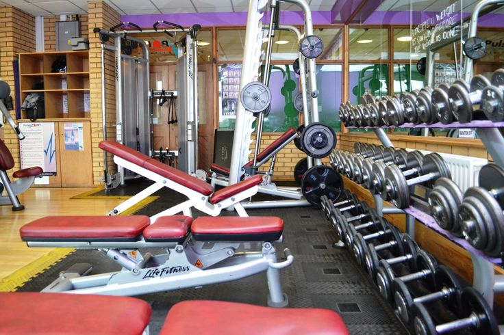 Free weights at Billesley's Gym