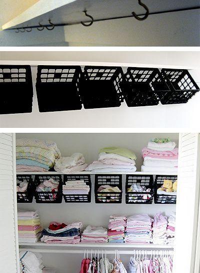 Frugal Friday 25 Diy Organization Ideas Pinterest Hooks Bookcases And Polish