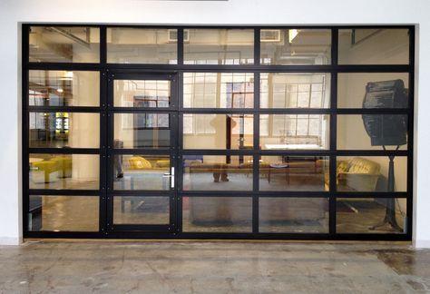 GlassPassingDoor - Full View Aluminum Glass Garage Door with Passing Door - Garage&Roll Up