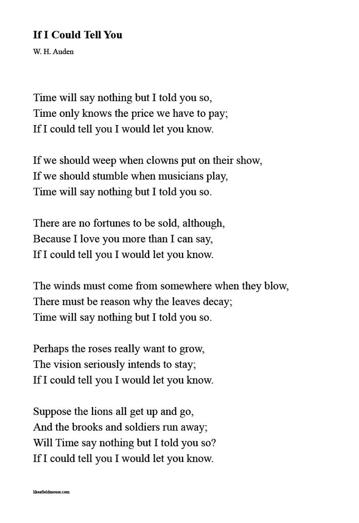 204c4b3bc9d3b73e6f9097063867a711 - If I Could Tell You - Poems and Poets