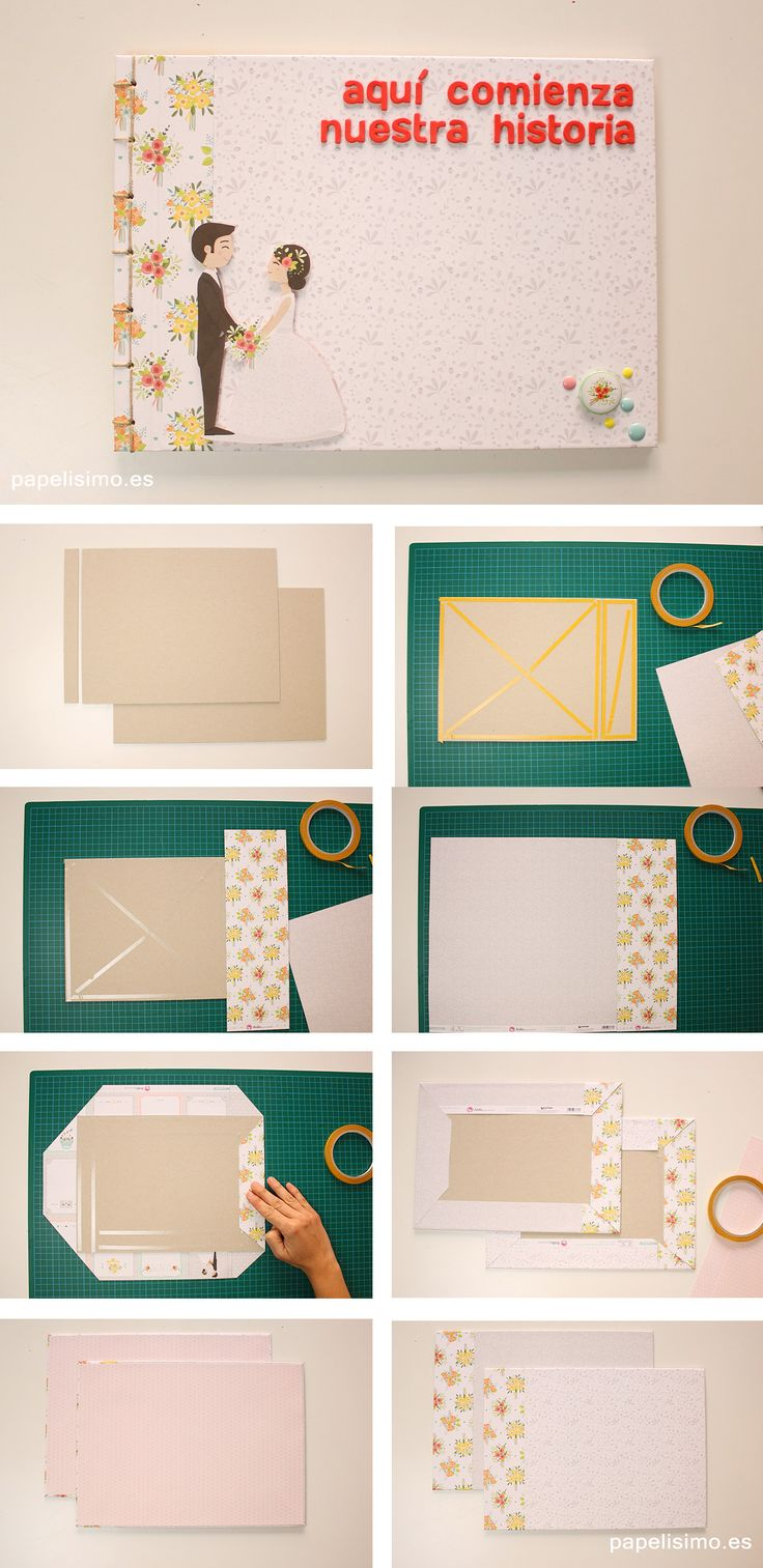 Como-hacer-album-de-fotos-scrapbooking-How-to-make-a-scrapbook-photo-album