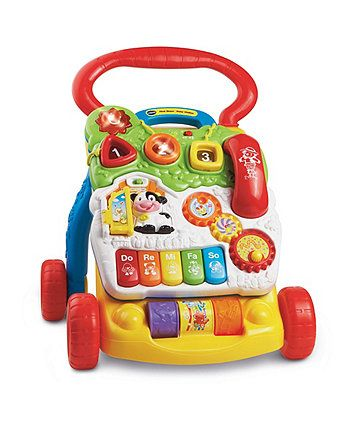 The VTech First Steps Baby Walker is a sturdy baby walker that can help support your baby's first steps.