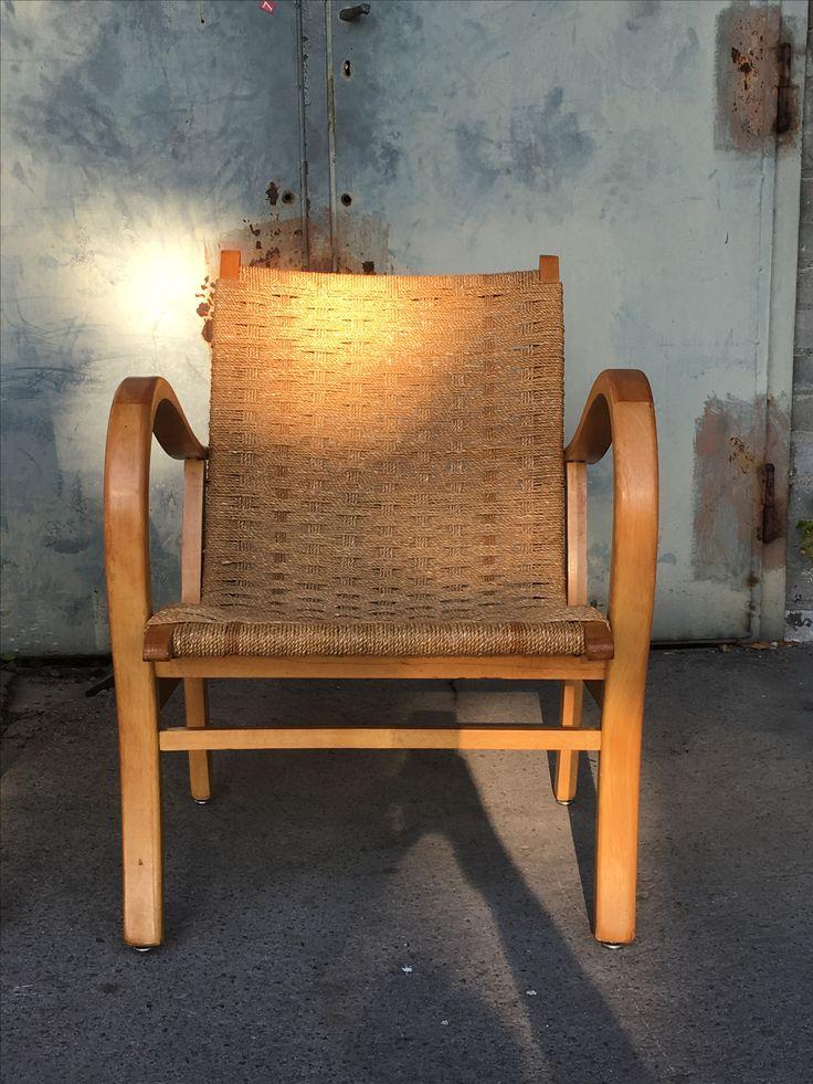 Pleciony fotel '60