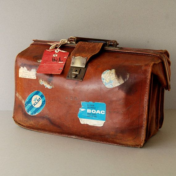1960s tan leather briefcase Brown leather briefcase Leather document case