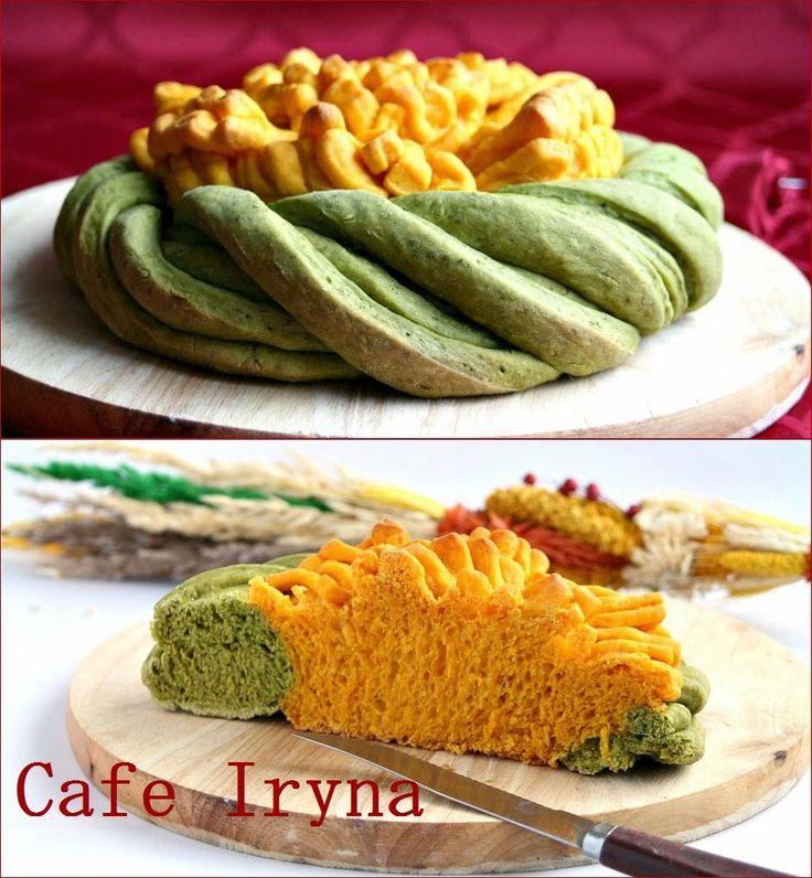 """Сafe Iryna: Морковно-шпинатный хлеб """"Цветок""""."""