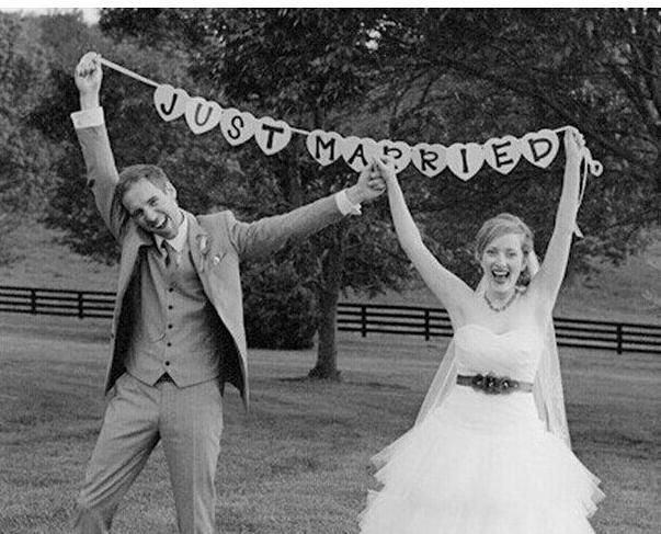 Wedding Decoration Hire Just Married Vintage Wedding Bunting Banner Photo Booth Props Garland Bridal Shower Wedding Decoration Homemade Wedding Decorations From Dhg2014, $4.3| Dhgate.Com