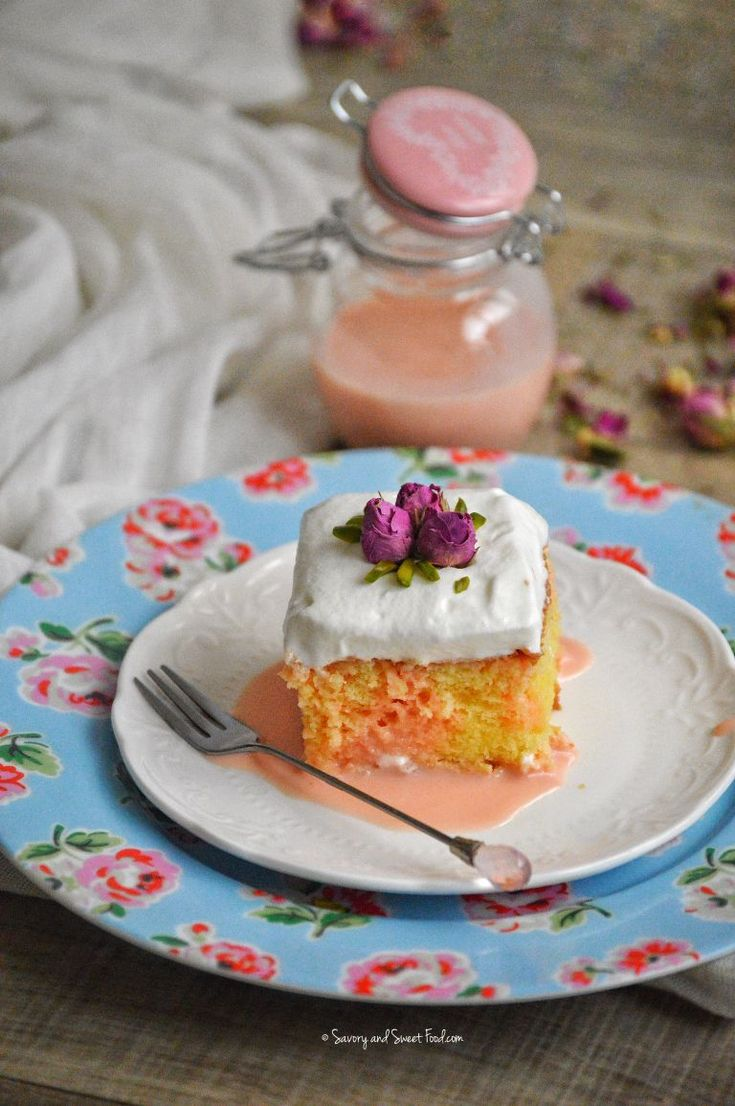 Rose Milk Cake or Tres Leches Cake is a super moist, sponge cake soaked in rich rose flavored milk sauce (which is made of three kinds of milk) and topped with whipped cream which again has essence…