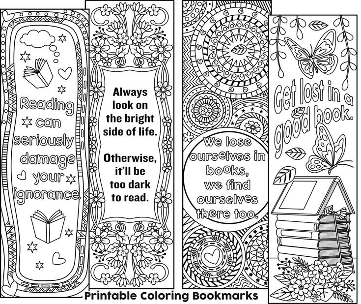 46 best coloring: bookmarks images on Pinterest | Adult coloring ...