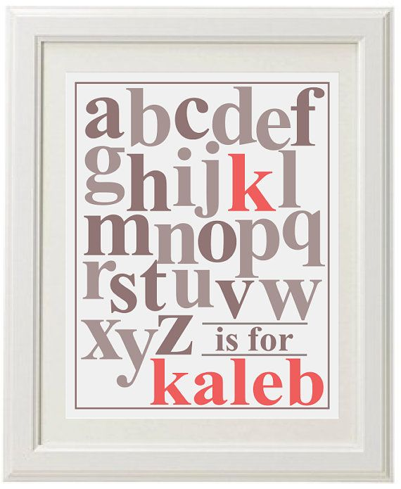 ABC Baby Boy Name Art  Choose your colors  by BundleBabyNursery, $15.00