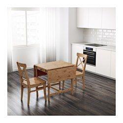 IKEA - INGATORP, Mesa de abas rebatíveis, Mesa com abas rebatíveis para 2-4 pessoas; permite adaptar o tamanho da mesa de acordo com as suas necessidades.Pinho maciço; material natural que envelhece bem.A superfície com acabamento em verniz incolor é fácil de limpar.