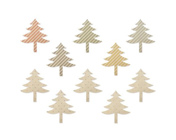 INSTANT DOWNLOAD // Christmas Tree Clipart by VintagePaperPegasus #christmas #clipart #vintage #stripes