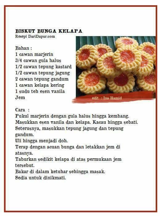 bunga kelapa biskut resepi biskut resipi Resepi Biskut Limau Sunkist Enak dan Mudah