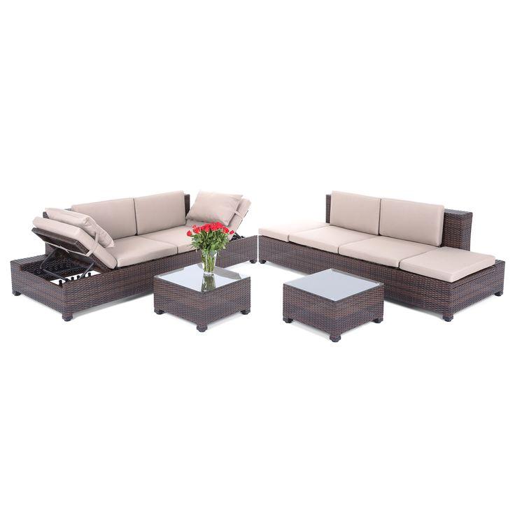 Narożnik ogrodowy składa się z dwóch dużych sof Milano.