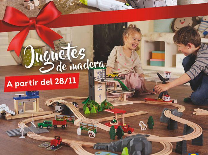 Juguetes de madera en Lidl -  A partir de del 28de Noviembre en los supermercados Lidl podrás comprarjuguetes de madera para los más pequeños de la casa. Habrá un amplia colección de juguetesde madera para que los niños dejen volar su imaginación. De esta manera dejarán de lado las consolas, el ordenador y podrán jugar con... #Folletosonline, #Lidl   Ver en la web : https://ofertassupermercados.es/juguetes-madera-lidl/