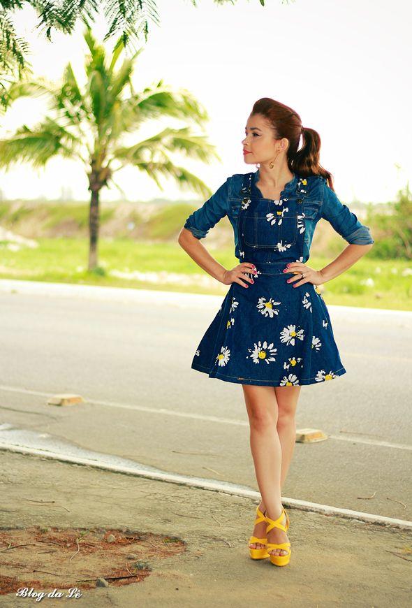 Blog da Lê-Moda e Estílo: No look Jardineira Jeans