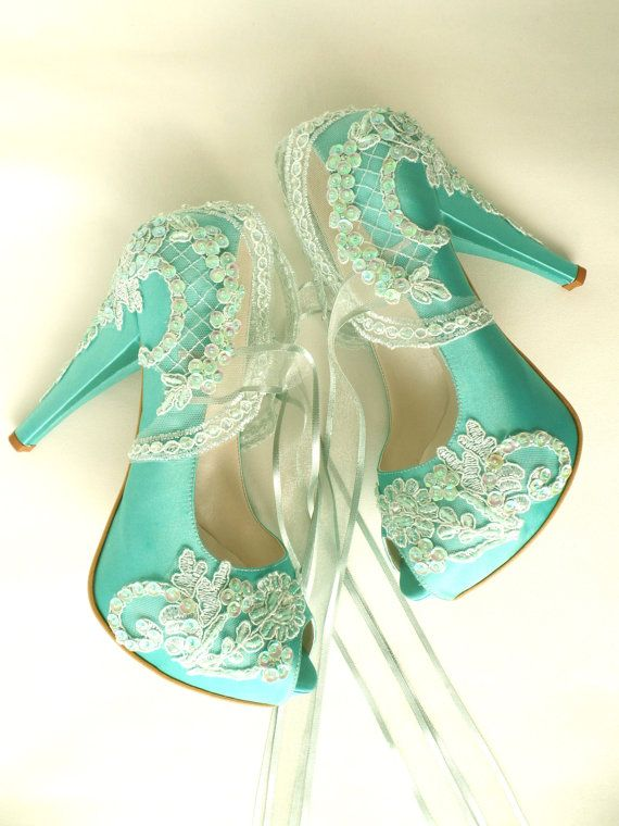 Hey, I found this really awesome Etsy listing at https://www.etsy.com/il-en/listing/261464645/wedding-shoes-mint-embroidered-lace