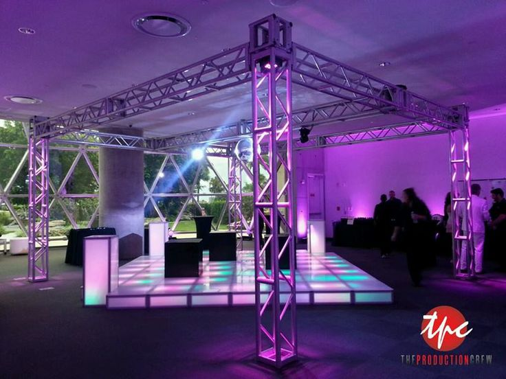 Truss Structure with LED Up Lighting and Illuminated Dance